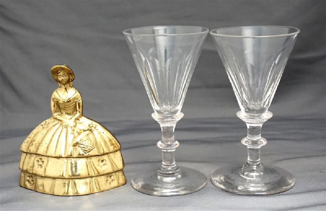 PAIR GEORGIAN c. 1800 PORT GLASSES - 8