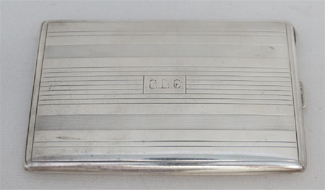 AMERICAN ART DECO STERLING CIGARETTE CASE