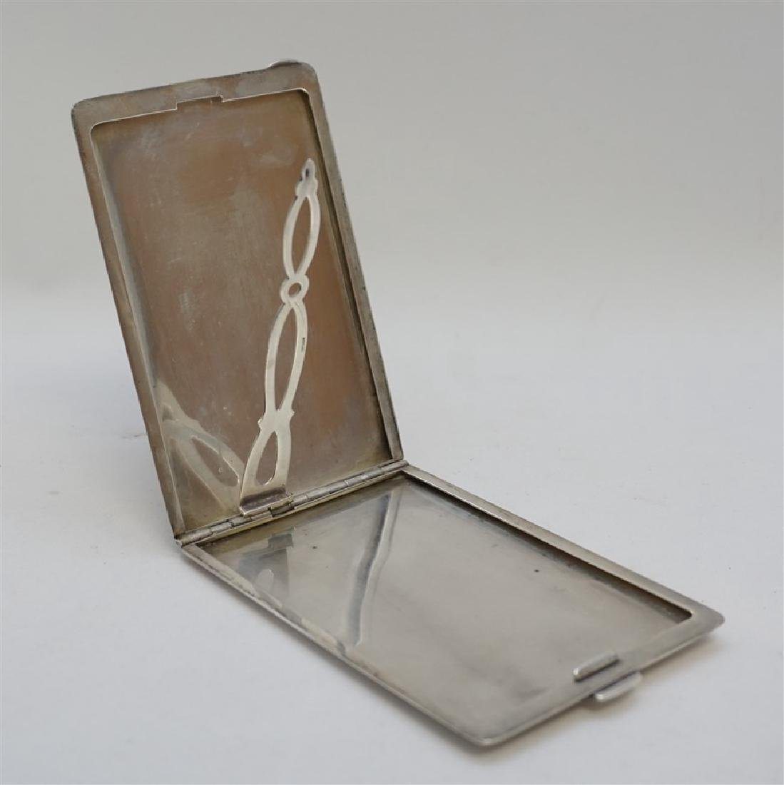 AMERICAN ART DECO STERLING CIGARETTE CASE - 3