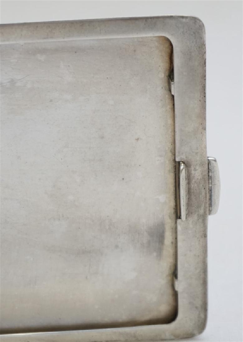 AMERICAN ART DECO STERLING CIGARETTE CASE - 5