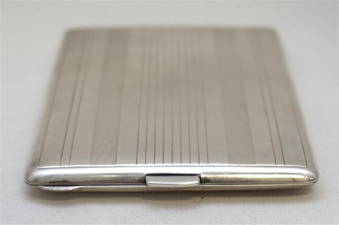 AMERICAN ART DECO STERLING CIGARETTE CASE - 7