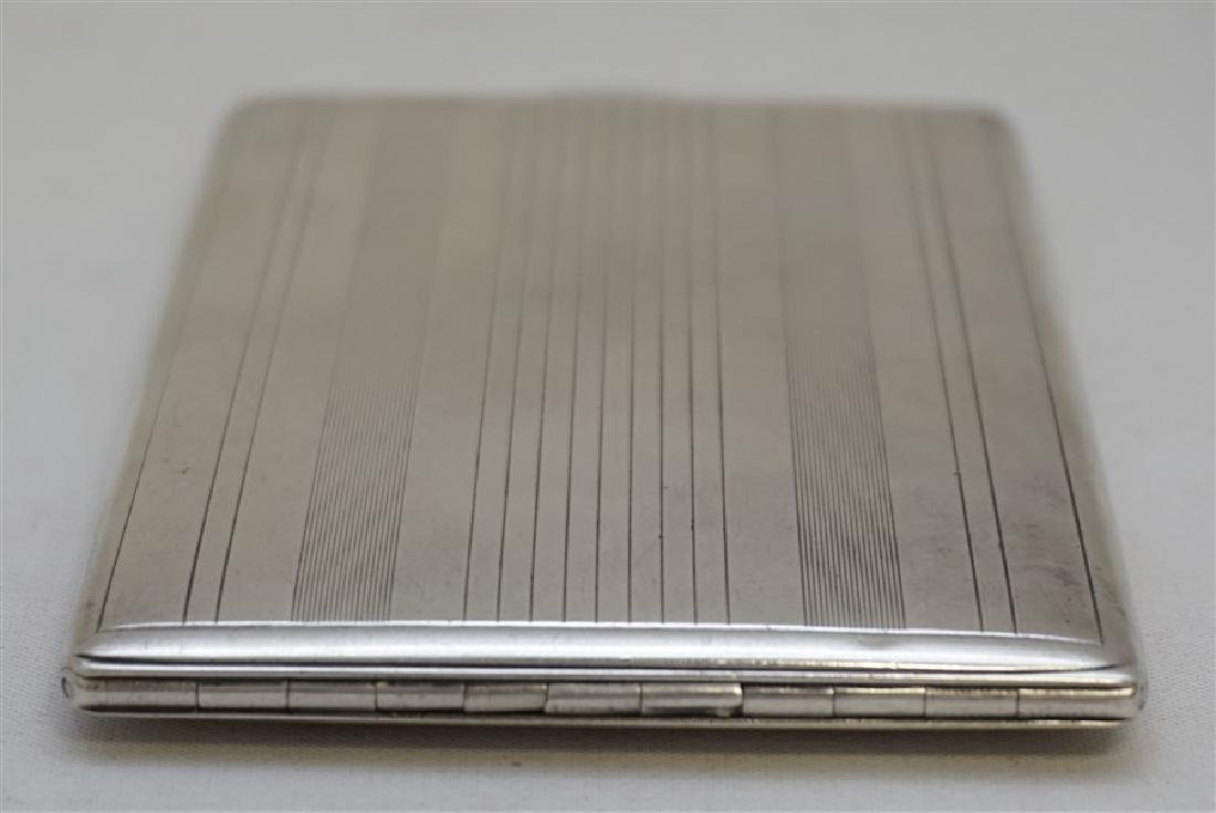 AMERICAN ART DECO STERLING CIGARETTE CASE - 8