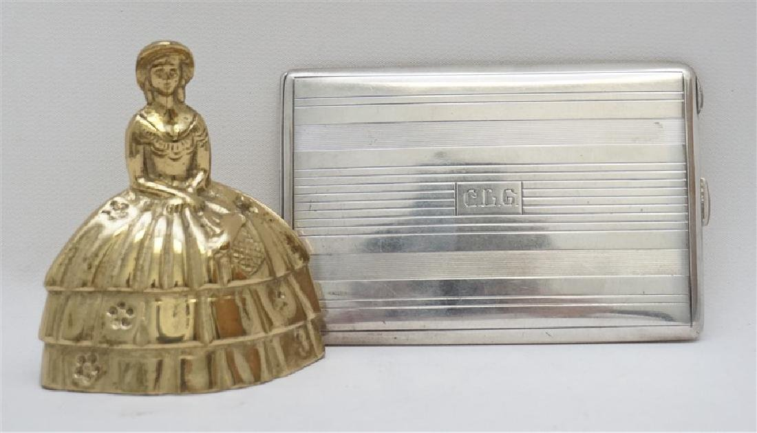 AMERICAN ART DECO STERLING CIGARETTE CASE - 9