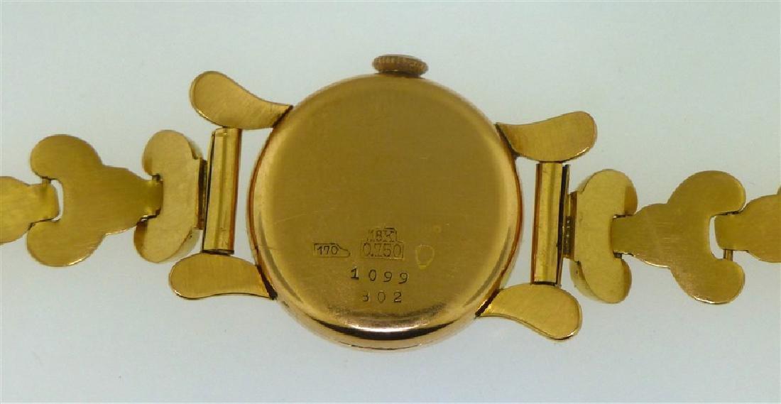 18KT GOLD LUCERNE DE LUXE WRIST WATCH - 5