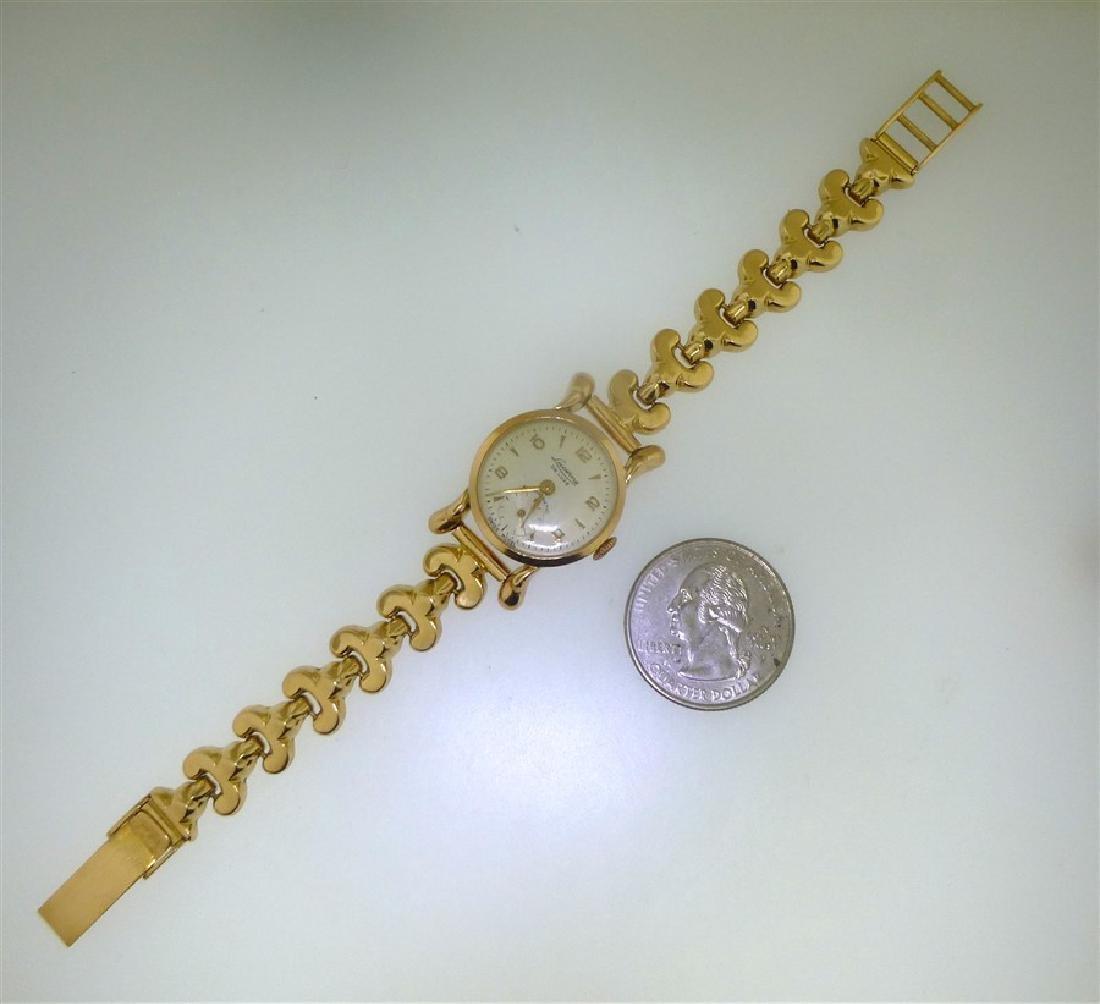 18KT GOLD LUCERNE DE LUXE WRIST WATCH - 7