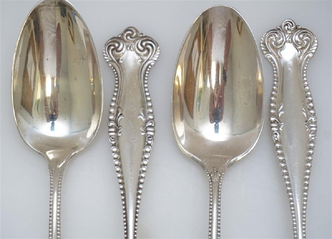 4 STERLING 1893 CANTERBURY SERVING SPOONS TOWLE - 2