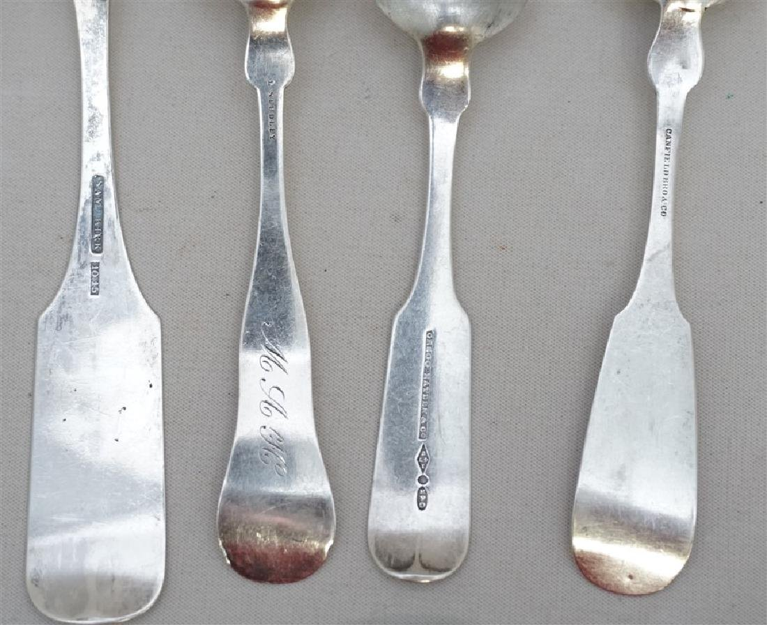 10 ANTIQUE AMERICAN COIN SPOONS - SAM KIRK + - 6