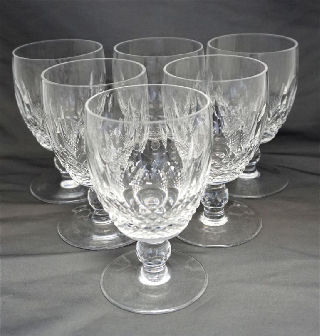6 WATERFORD CRYSTAL COLLEEN WATER GOBLETS