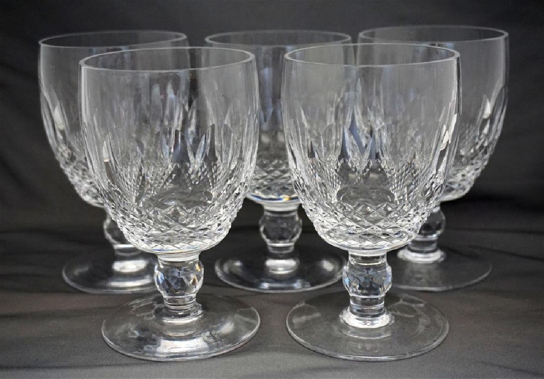 6 WATERFORD CRYSTAL COLLEEN WATER GOBLETS - 3