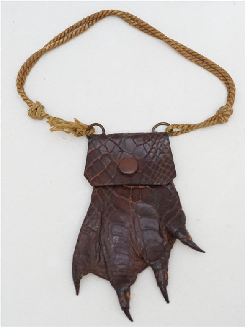 VICTORIAN ALLIGATOR CLAW FOOT PURSE