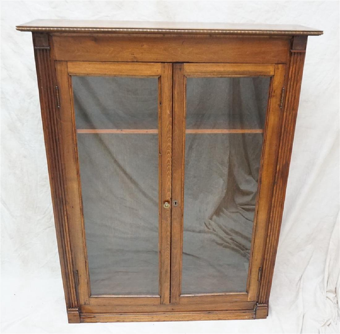 ANTIQUE AMERICAN OAK BOOKCASE