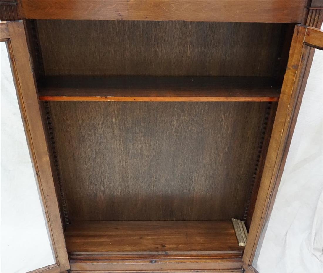 ANTIQUE AMERICAN OAK BOOKCASE - 5