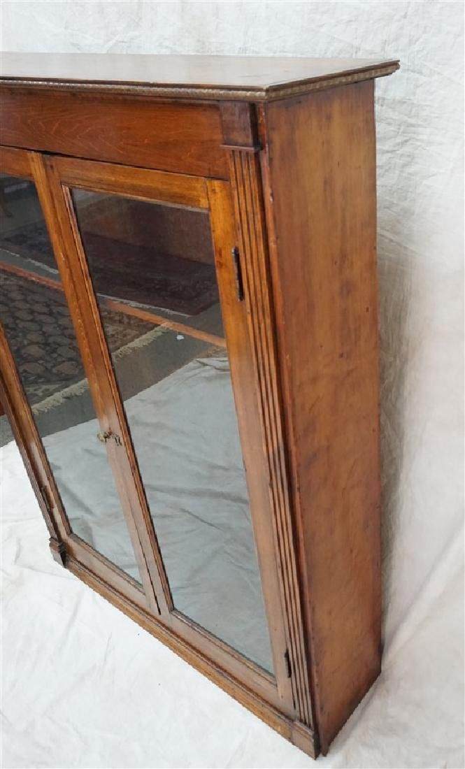 ANTIQUE AMERICAN OAK BOOKCASE - 6