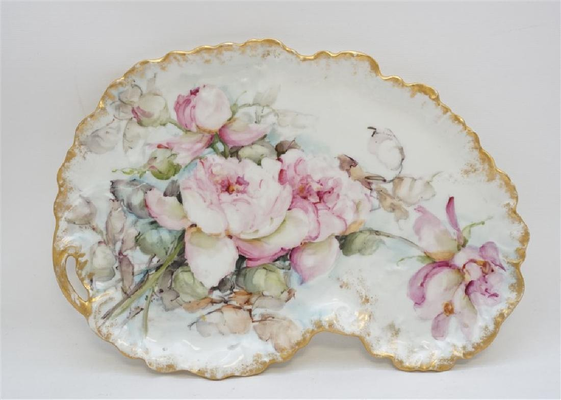 LIMOGES HAND PAINTED PORCELAIN DRESSER TRAY