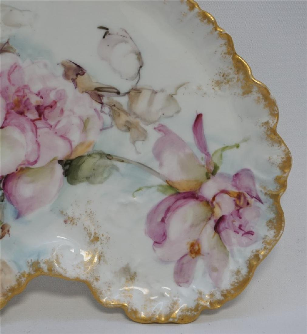 LIMOGES HAND PAINTED PORCELAIN DRESSER TRAY - 4