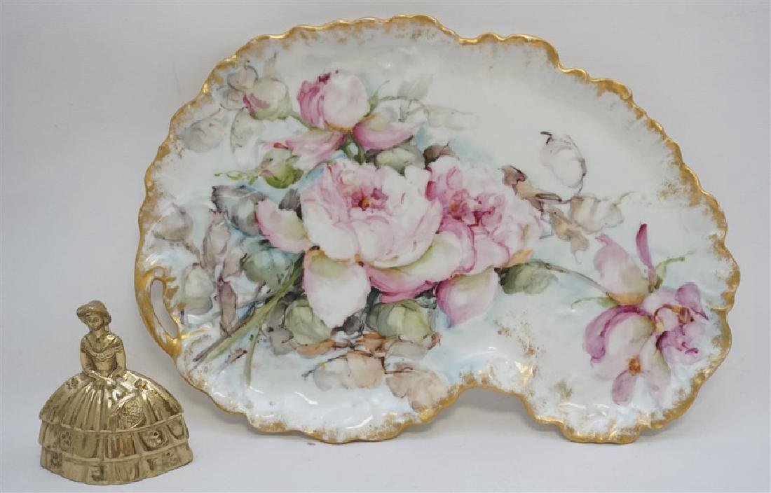 LIMOGES HAND PAINTED PORCELAIN DRESSER TRAY - 5