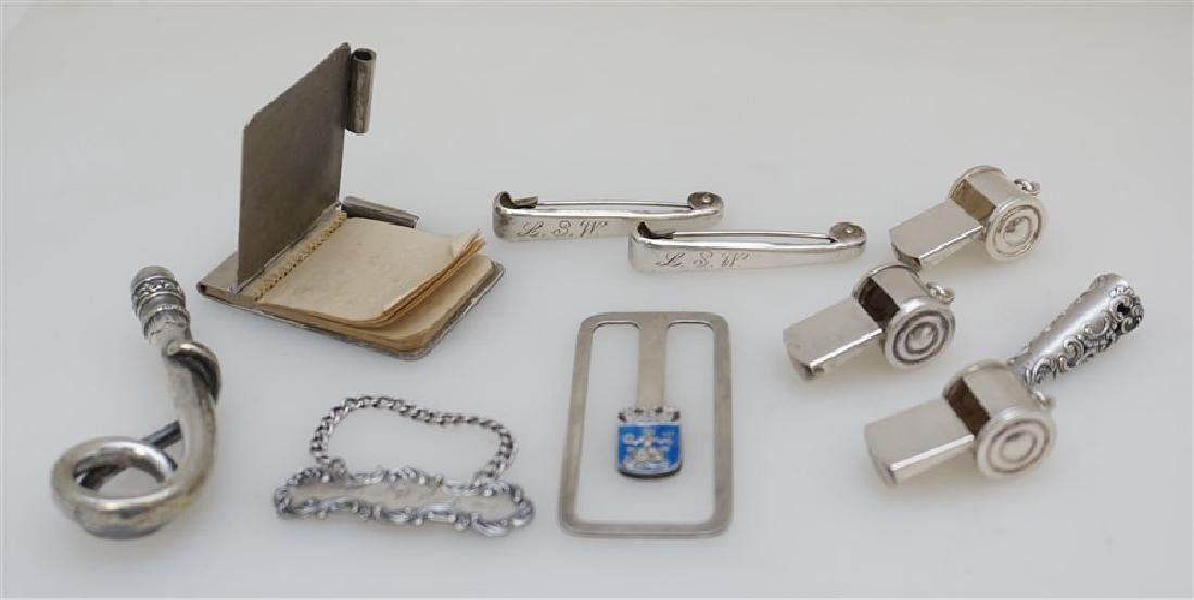 10 pc LOT STERLING & SILVER ACCESSORIES