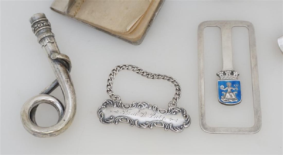 10 pc LOT STERLING & SILVER ACCESSORIES - 3