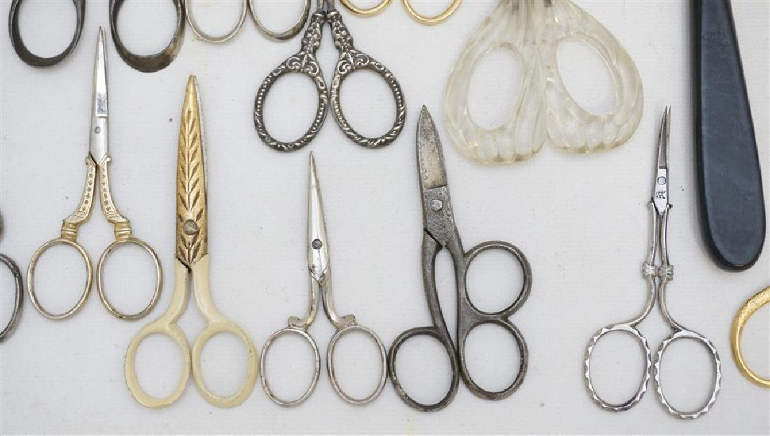 16 ANTIQUE / VINTAGE SCISSORS - STERLING + - 4