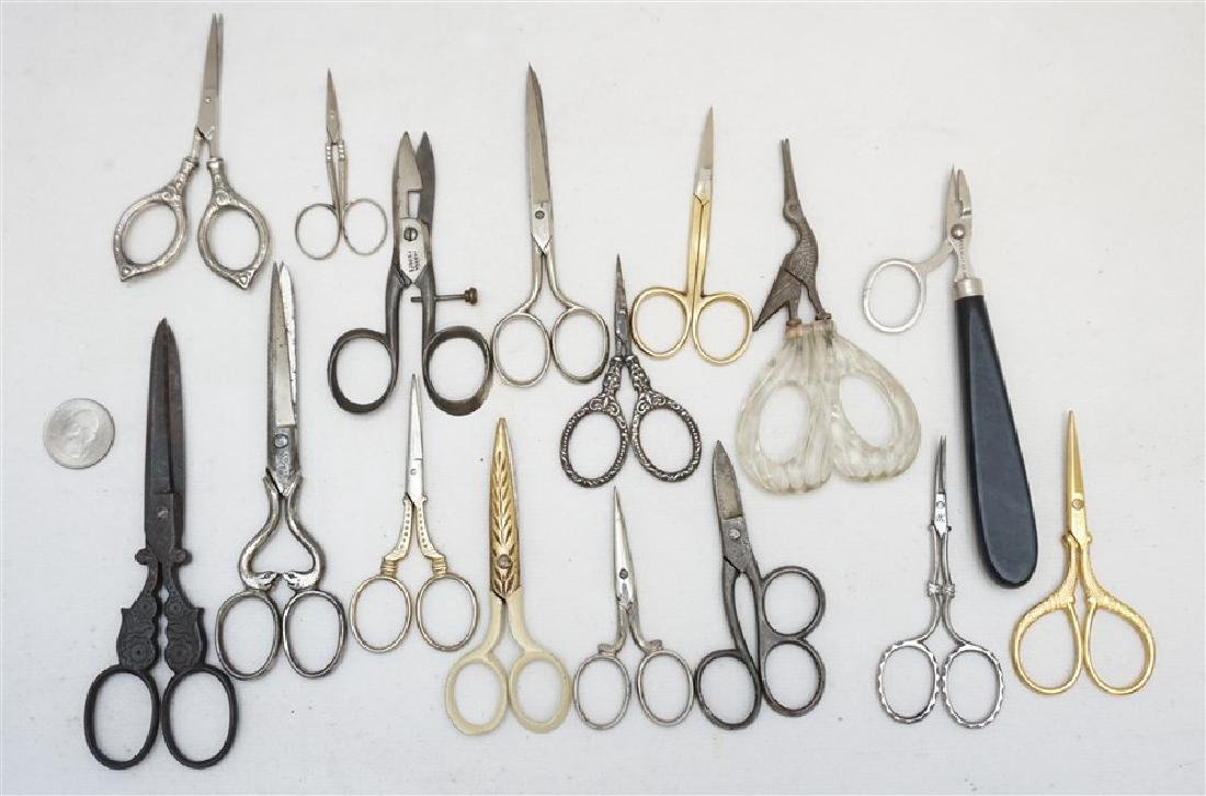 16 ANTIQUE / VINTAGE SCISSORS - STERLING + - 6