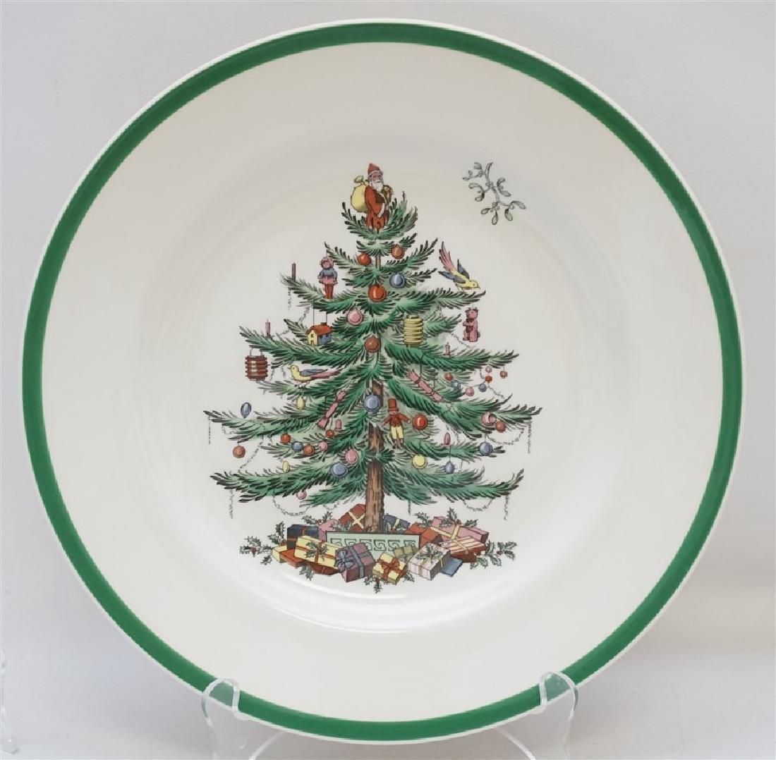 9PC SPODE CHRISTMAS TREE PLATES - 2