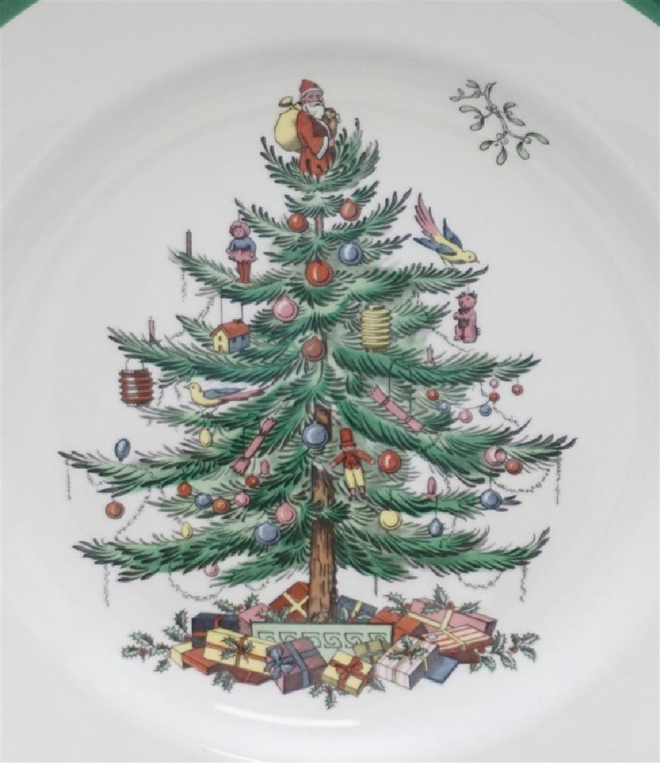 9PC SPODE CHRISTMAS TREE PLATES - 3