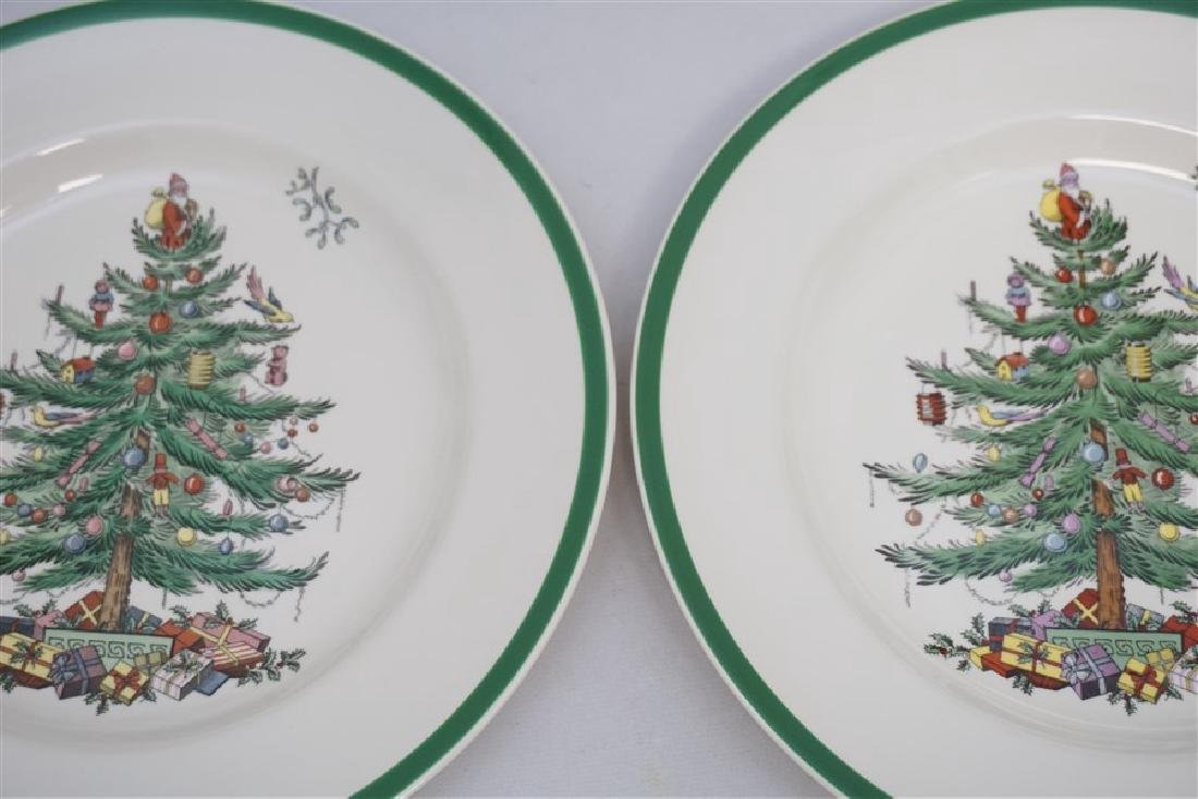 9PC SPODE CHRISTMAS TREE PLATES - 4