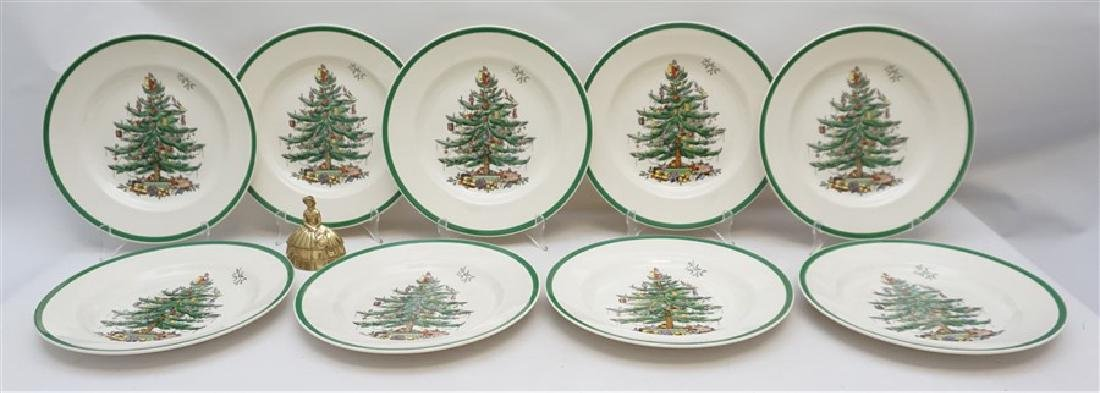 9PC SPODE CHRISTMAS TREE PLATES - 6