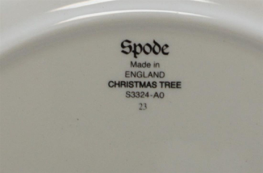9PC SPODE CHRISTMAS TREE PLATES - 7