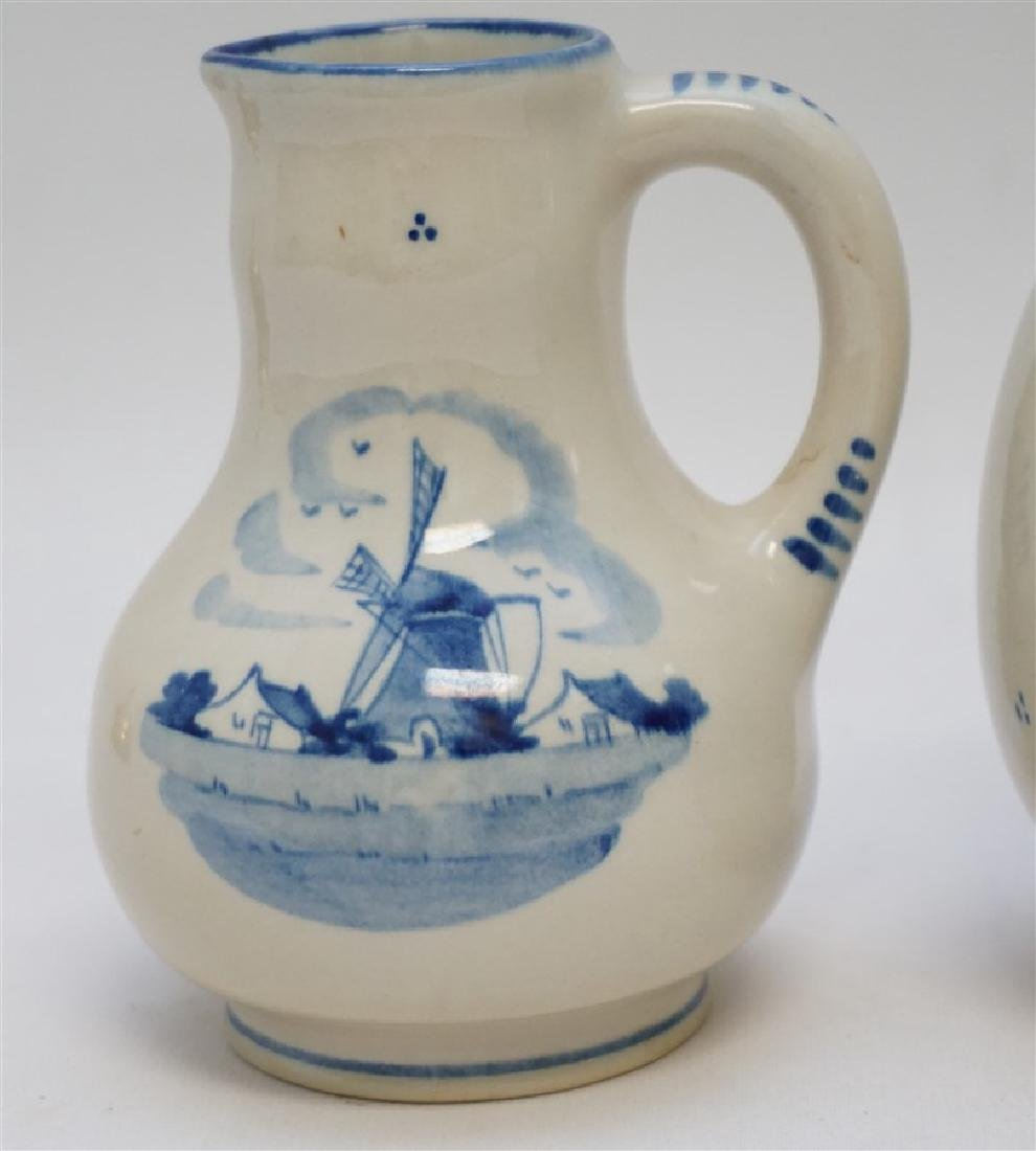 3 ZENITH DELFT POTTERY HOLLAND PITCHERS - 2