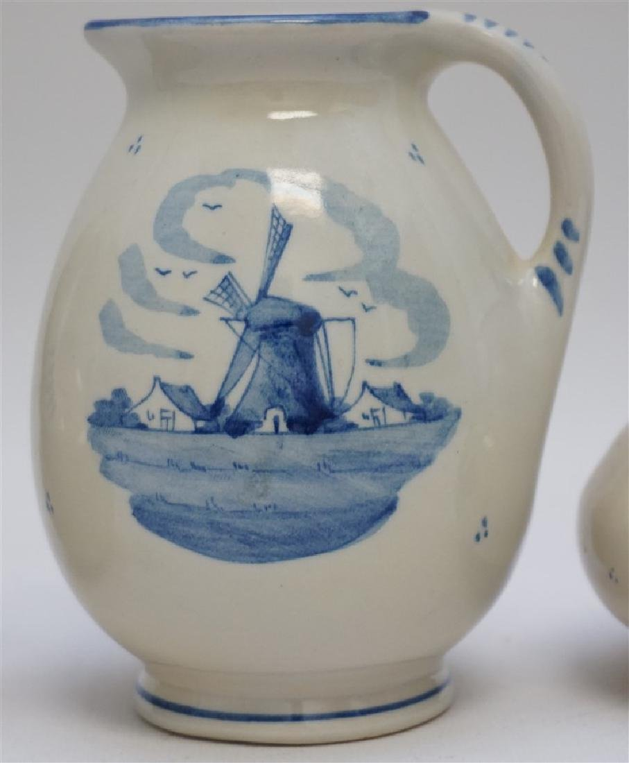3 ZENITH DELFT POTTERY HOLLAND PITCHERS - 3