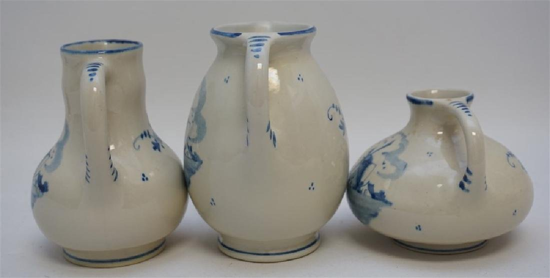 3 ZENITH DELFT POTTERY HOLLAND PITCHERS - 4