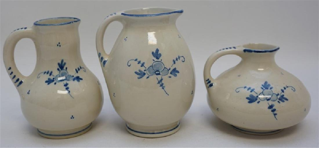 3 ZENITH DELFT POTTERY HOLLAND PITCHERS - 5