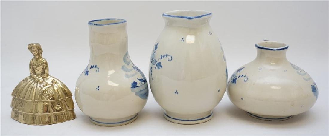 3 ZENITH DELFT POTTERY HOLLAND PITCHERS - 6