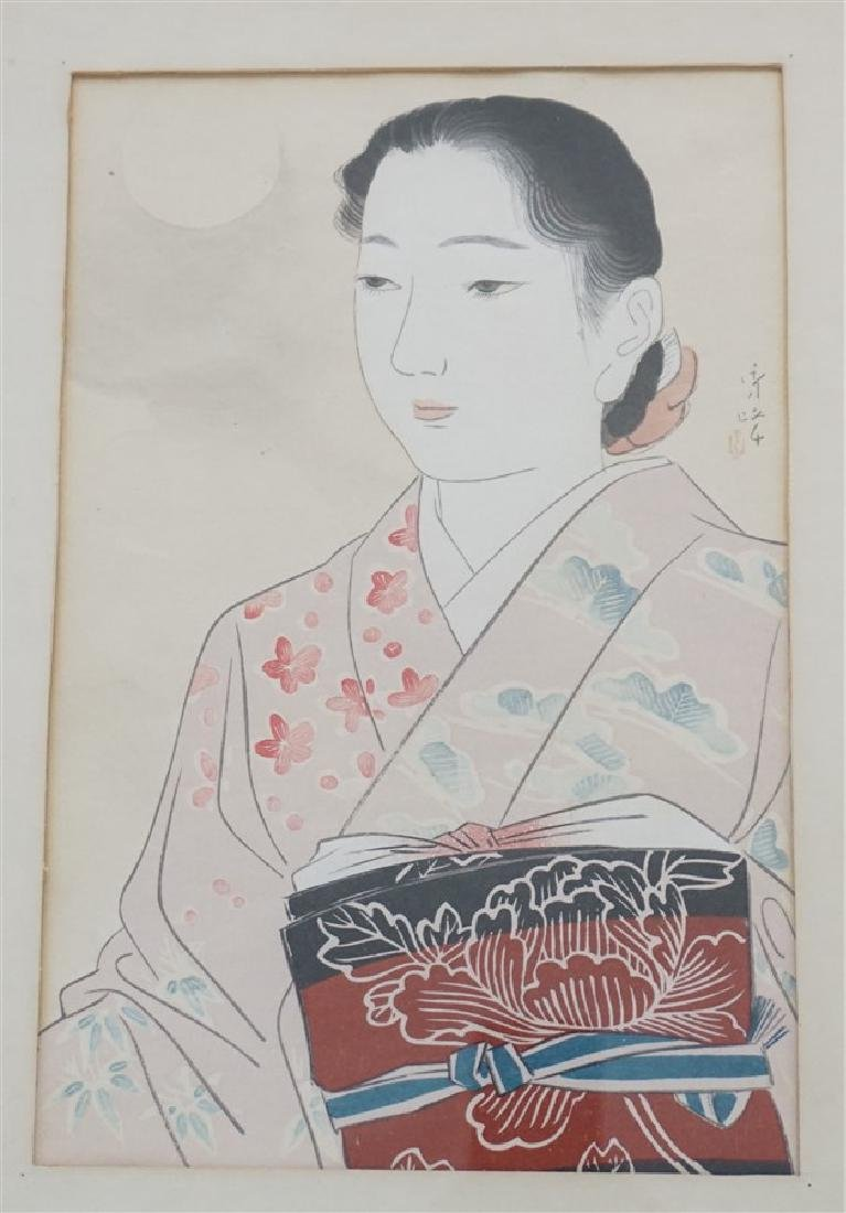 2 JAPANESE GEISHA WOODBLOCKS - 3