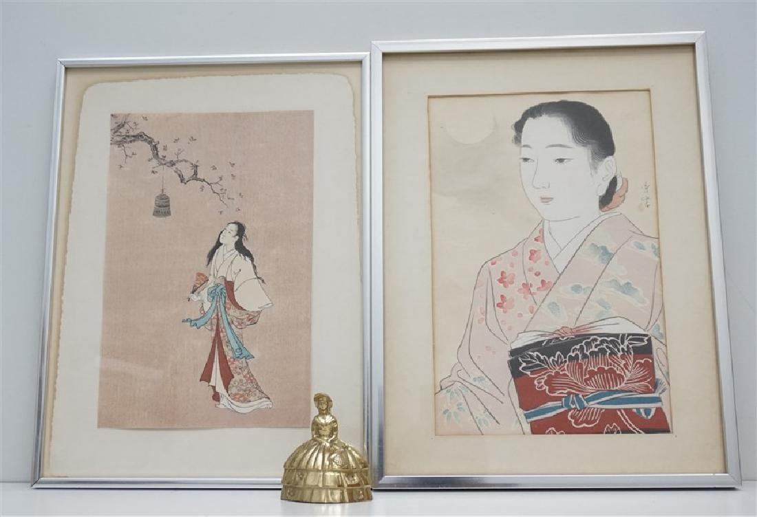 2 JAPANESE GEISHA WOODBLOCKS - 5