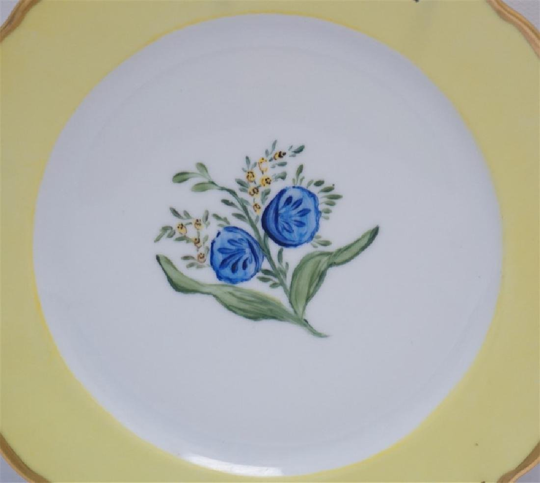 PAIR TIRSCHENREUTH HAND PAINTED FLORAL PLATES - 2