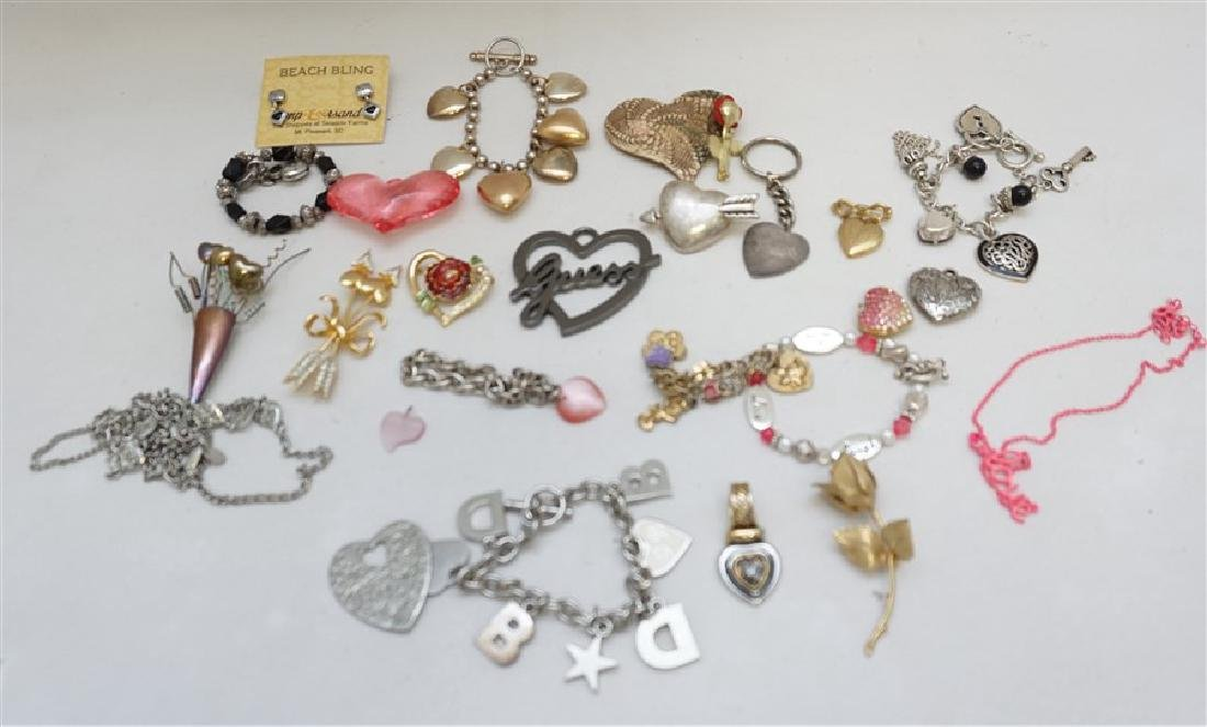 23 PC VALENTINE / HEART COSTUME JEWELRY
