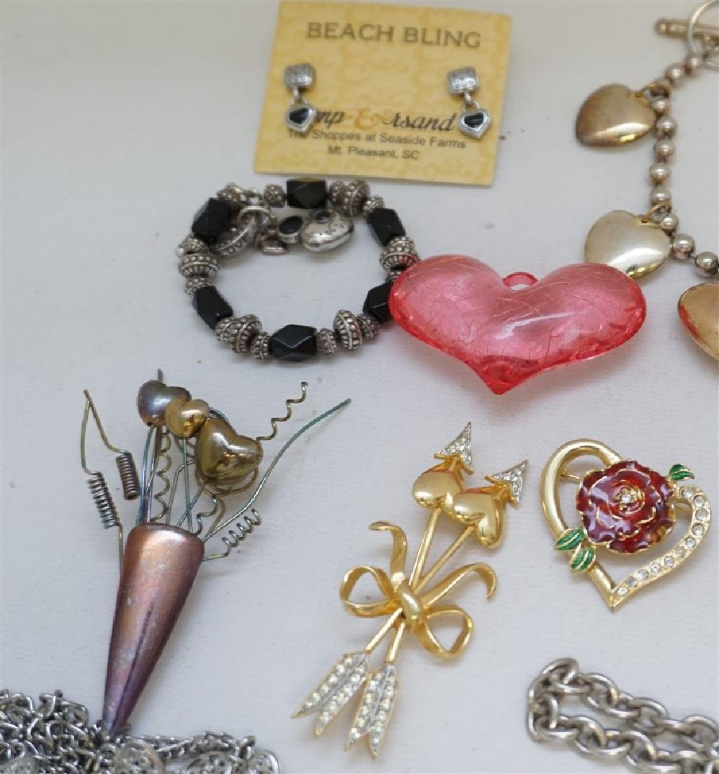 23 PC VALENTINE / HEART COSTUME JEWELRY - 4