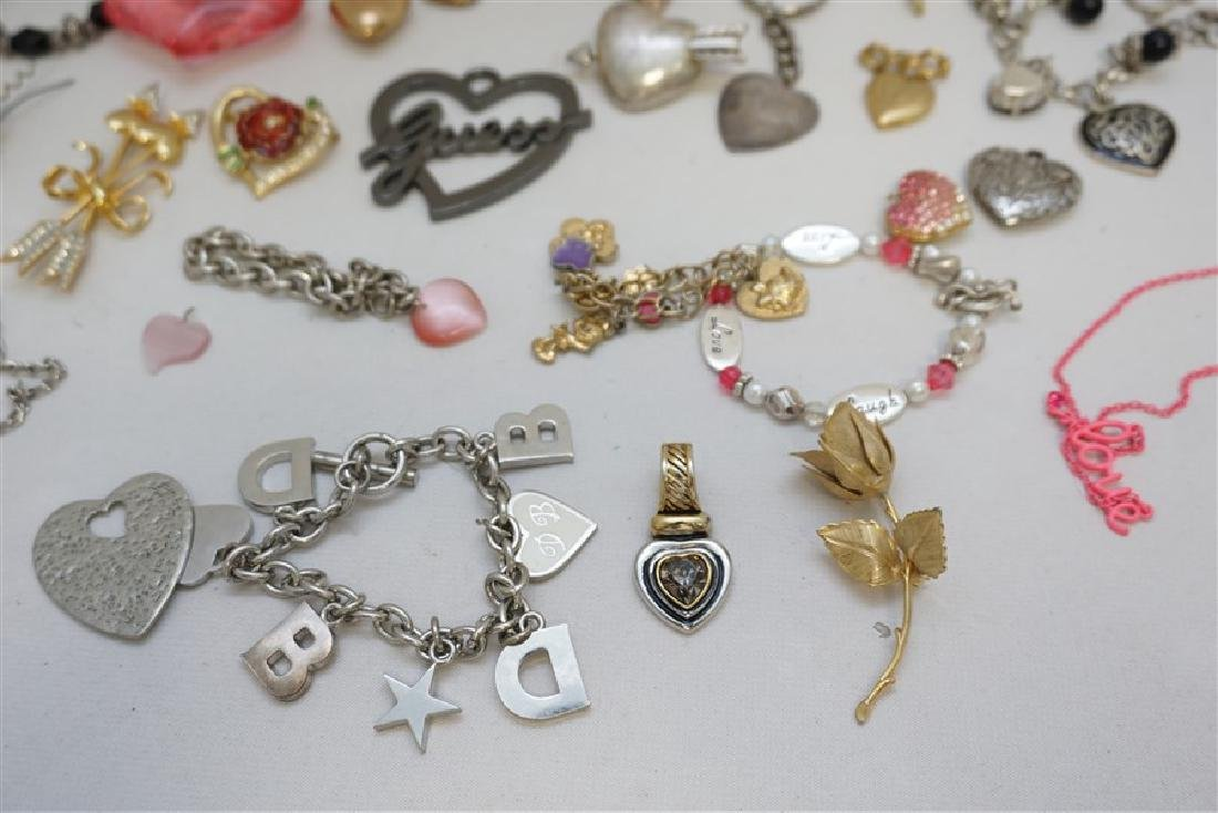 23 PC VALENTINE / HEART COSTUME JEWELRY - 5