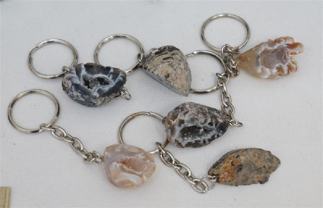21 PC GIFT LOT NEW - GEODE KEYCHAINS - CANDLES + - 4