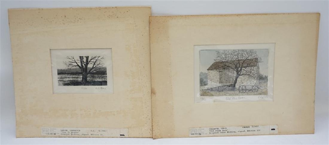 2 VTG BARONE & COLLETTE ETCHINGS