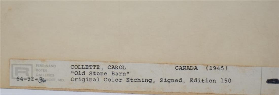 2 VTG BARONE & COLLETTE ETCHINGS - 5