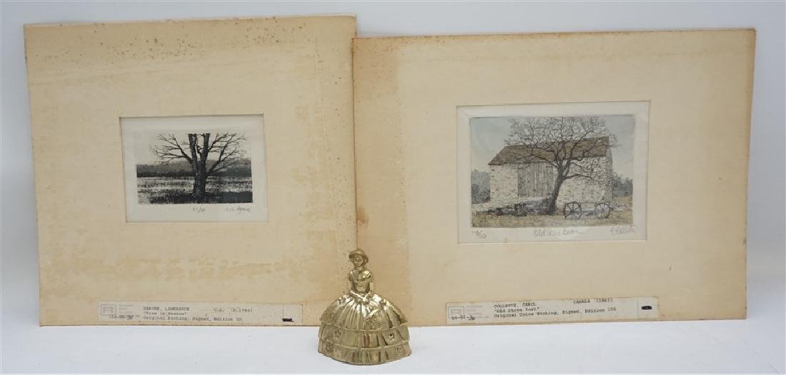 2 VTG BARONE & COLLETTE ETCHINGS - 6