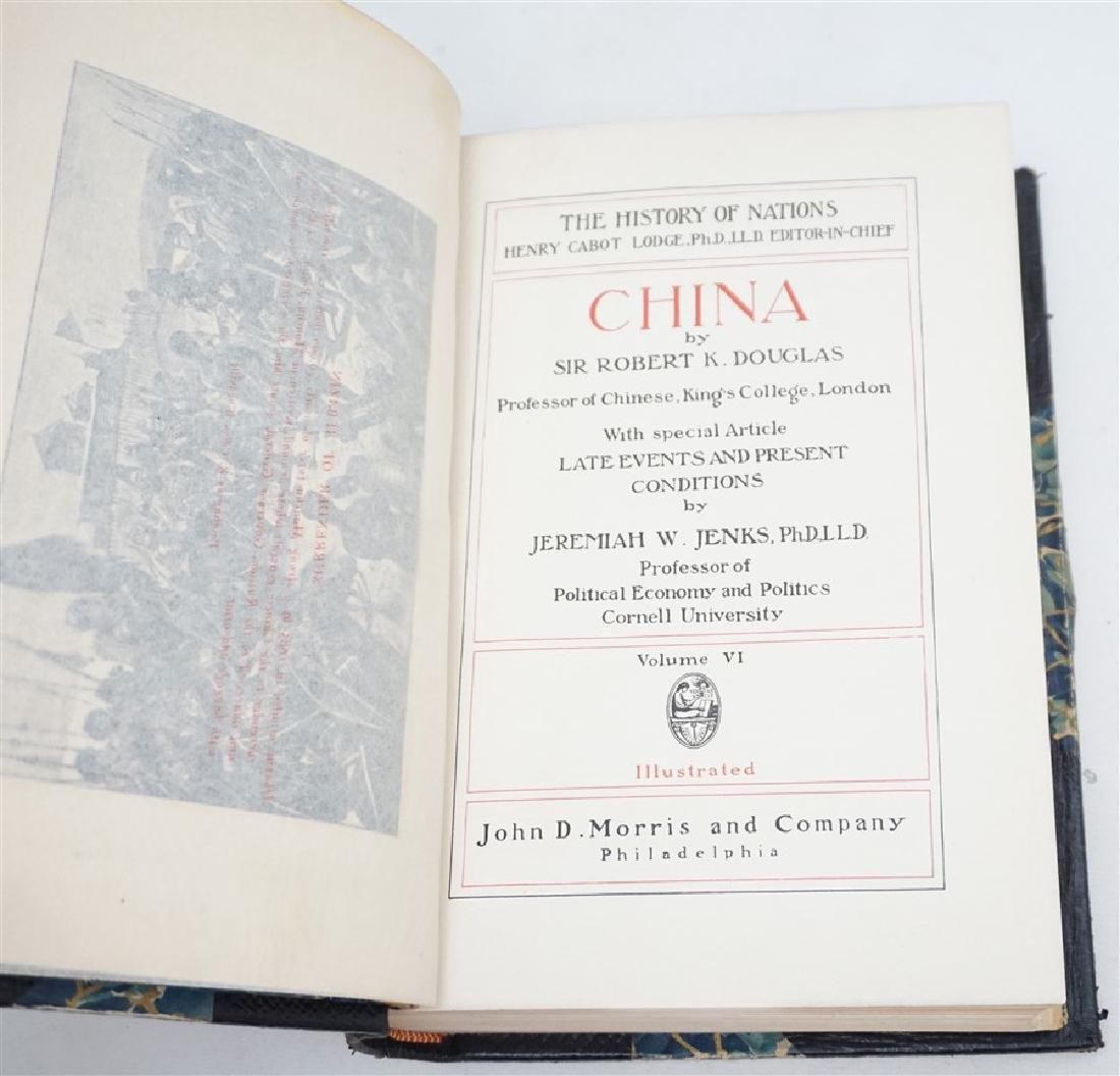 "1906 HISTORY OF NATIONS ""CHINA"" BOOK - 8"