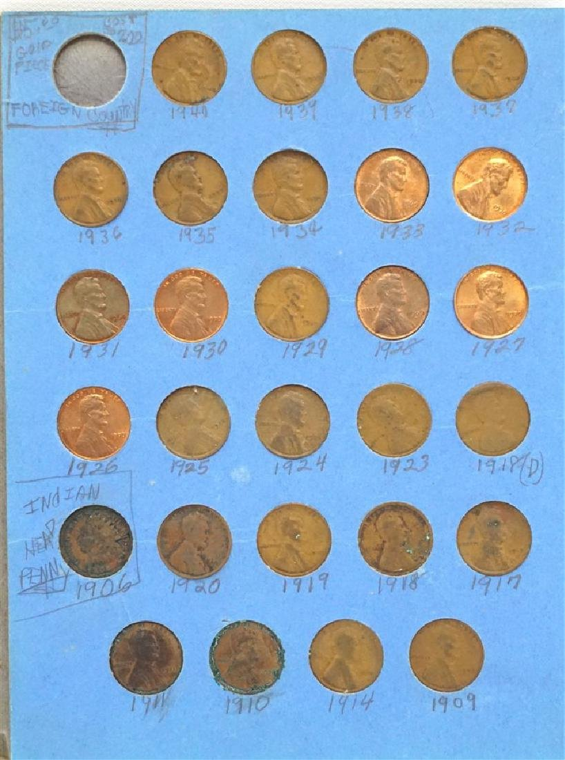 87 LINCOLN HEAD CENT PENNY COLLECTION 1906-1961 - 4