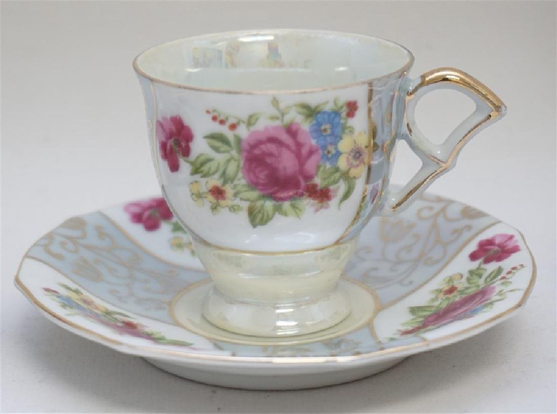 6PC SET PORCELAIN TEACUPS & SAUCERS - 3