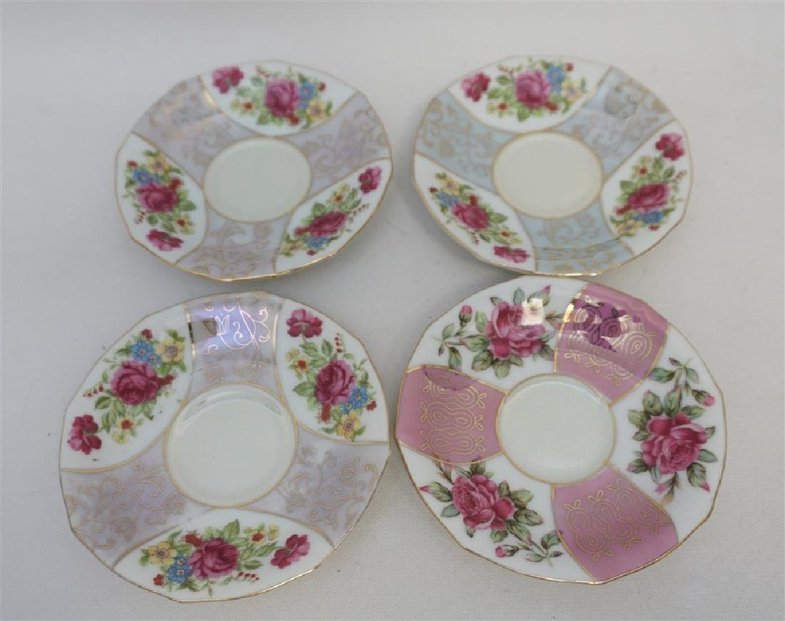6PC SET PORCELAIN TEACUPS & SAUCERS - 4