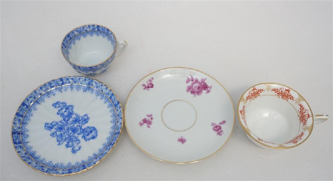 6PC SET PORCELAIN TEACUPS & SAUCERS - 6