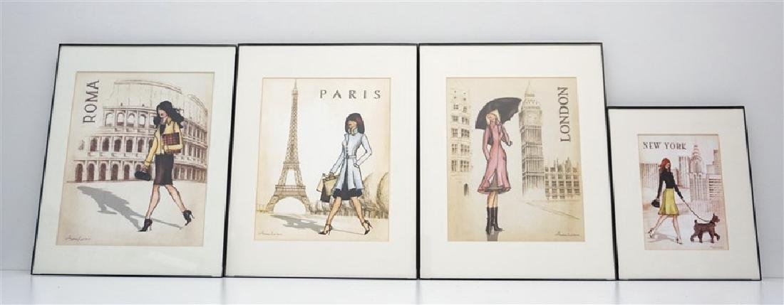 4 ANDREA LALIBERTE FASHION PRINTS